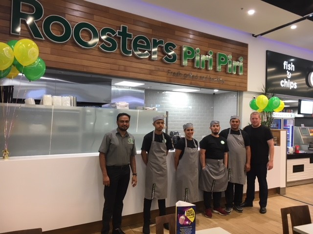 Image of the new team outside of Roosters, The Core Shopping Centre, Leeds